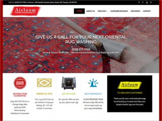 Airloom Oriental Rug Washing Co. | Affordable Web Portfolio
