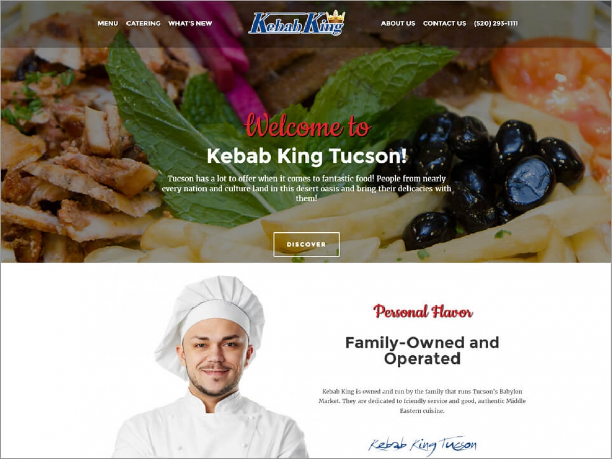 Kebab King Tucson | Affordable Web Portfolio