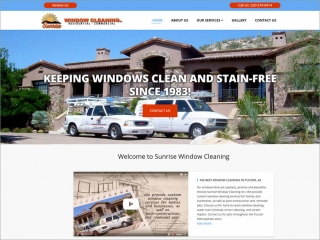 Sunrise Window Cleaning | Affordable Web Portfolio