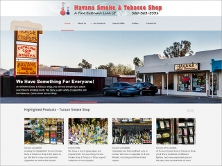Havana Smoke and Tobacco Shop | Affordable Web Portfolio