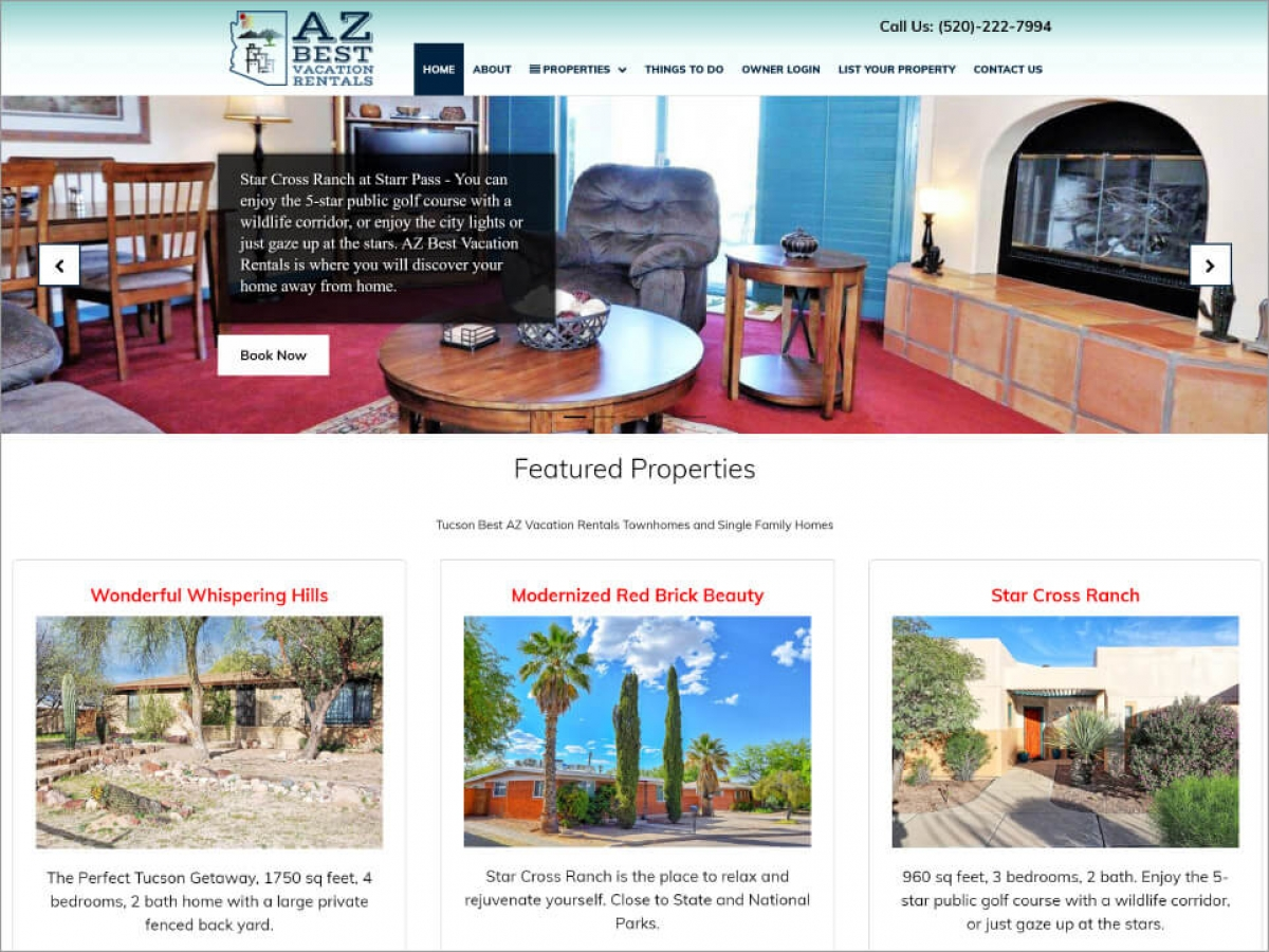 AZ Best Vacations | Affordable Web Portfolio